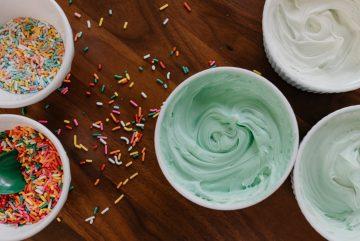 nappage sucre glace colorant vert